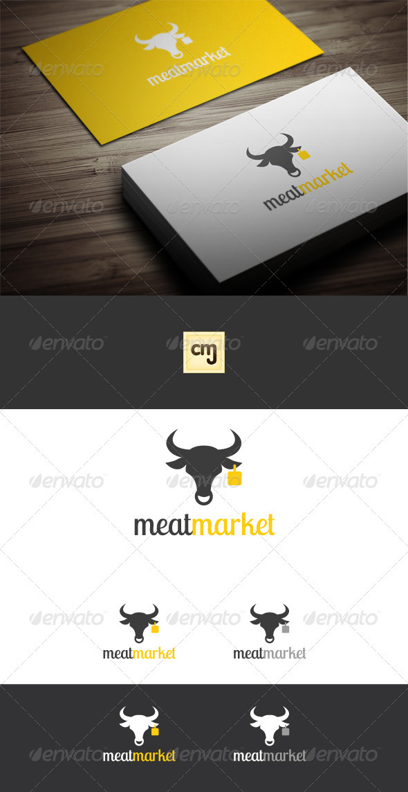 Meat Market Logo Template - Animals Logo Templates