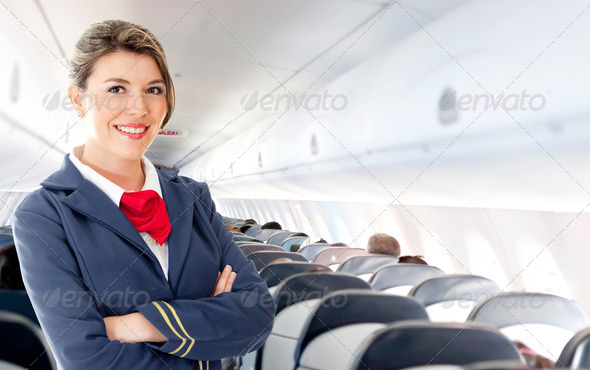 Air hostess - Stock Photo - Images