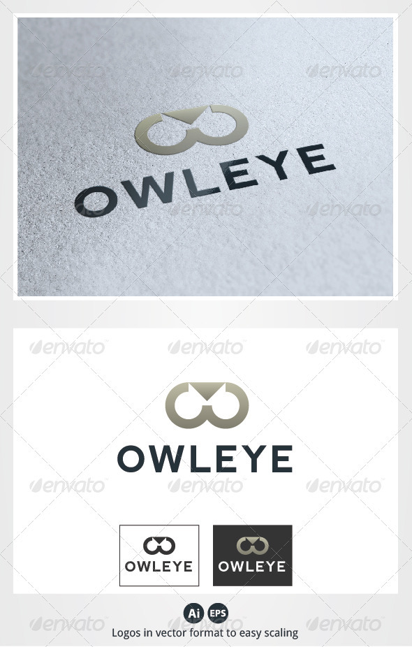 Owl Eye Logo - Animals Logo Templates