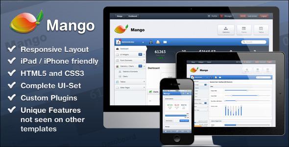 ThemeForest Mango �C Slick & Responsive Admin Template Site Templates Admin Templates 2728748