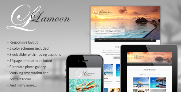 ThemeForest Lamoon Responsive Resort and Hotel Template 2791966