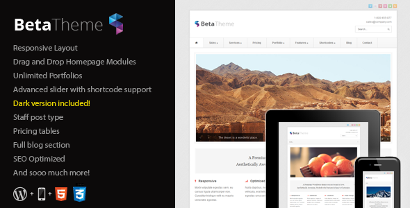 Beta - Clean Corporate WordPress Theme