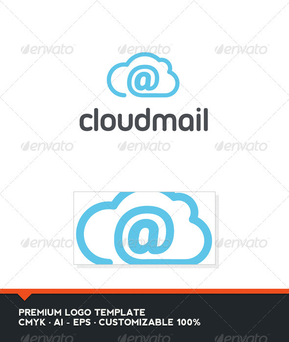 GraphicRiver Cloud Mail Logo Template 2792578