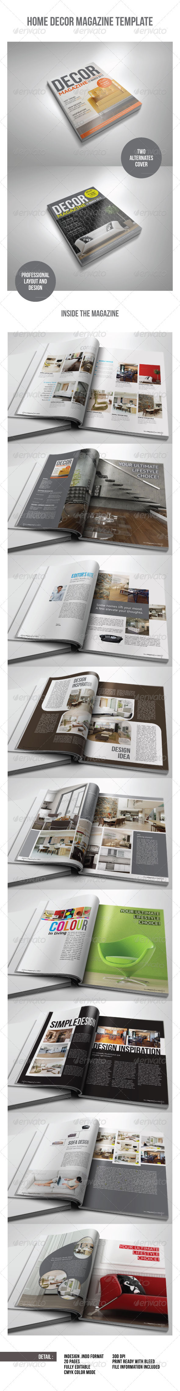 Home Decor Magazine Template - Magazines Print Templates