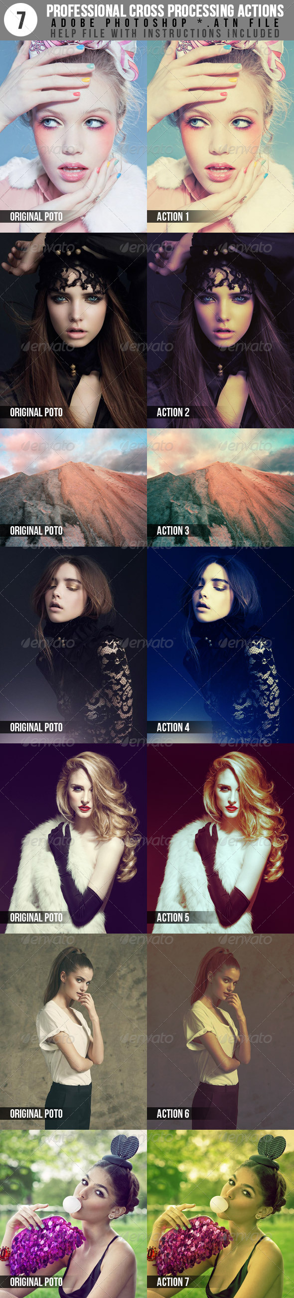 7 Professional Cross Processing Photo Actions - Photo Effects Actions