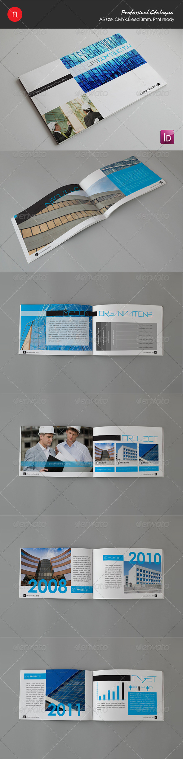 Life contruction brochure/catalogue - Brochures Print Templates