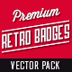 Premium Quality - Retro Badges Vectors - GraphicRiver Item for Sale