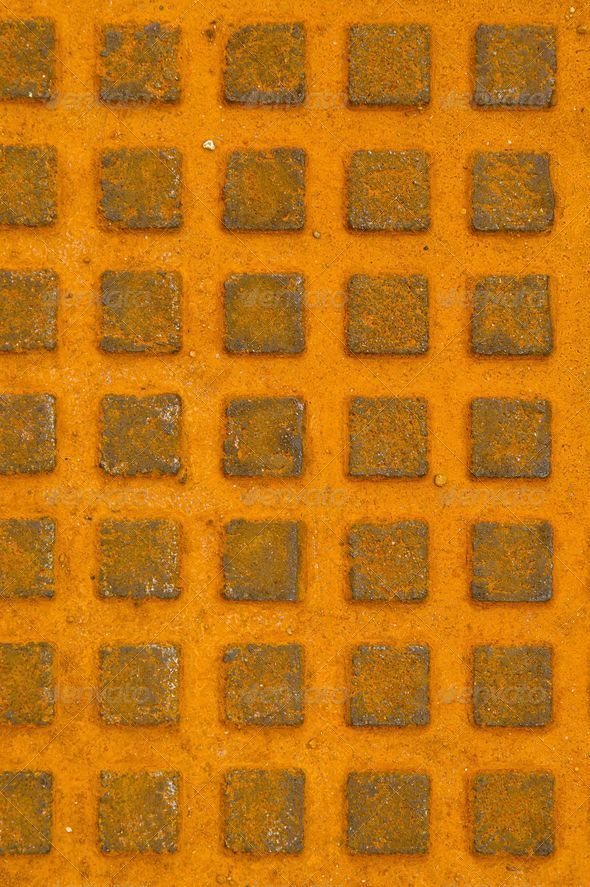 Great rusty iron metal sewer lid background. - Stock Photo - Images