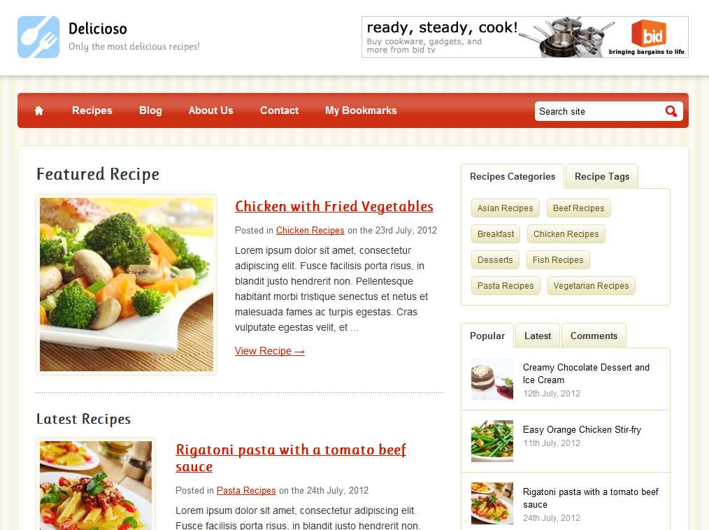 Delicioso WordPress Recipe Theme