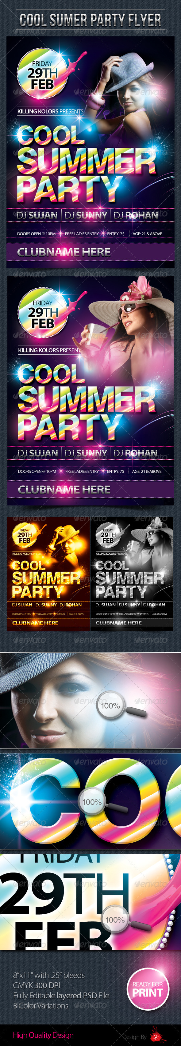Cool Summer Party Flyer - Clubs & Parties Events