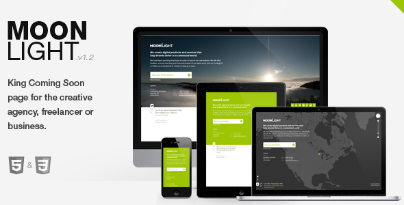 ThemeForest MoonLight > Responsive coming soon Page 2758527