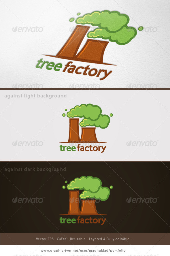 Tree Factory Logo   - Nature Logo Templates