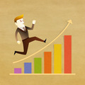 Conceptual image - Business man run on graph - PhotoDune Item for Sale