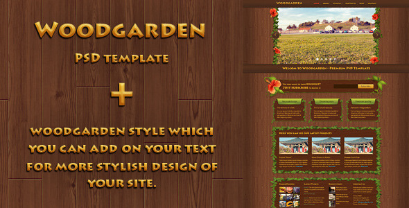 Woodgarden - Creative PSD Template - Creative PSD Templates