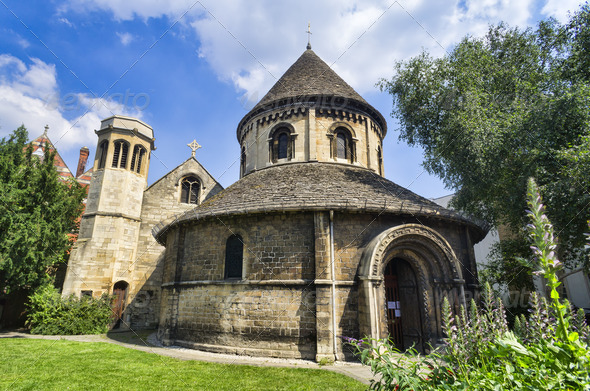 Round Church in Cambridge - Stock Photo - Images