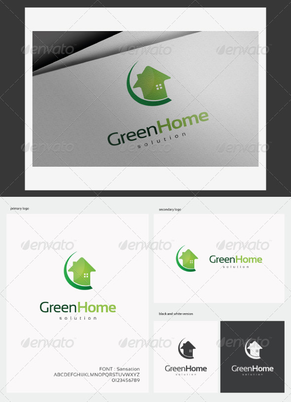 Green Home Logo - Buildings Logo Templates