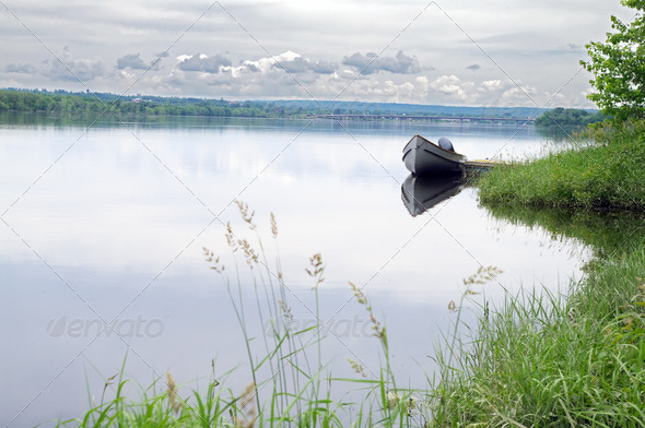 Boat on the River  - Stock Photo - Images