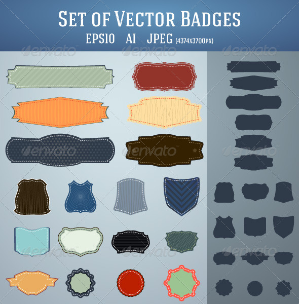 Set of Vector Badges - Decorative Vectors