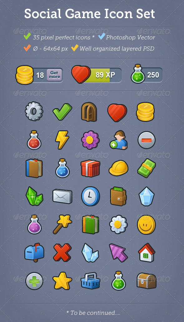 35 Social Game Icons - Miscellaneous Icons