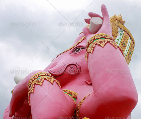 Face shot of ganesha statue - Stock Photo - Images