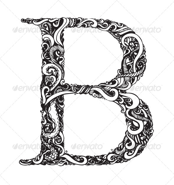 Capital Letters in Calligraphy Capital Letter b Elegant