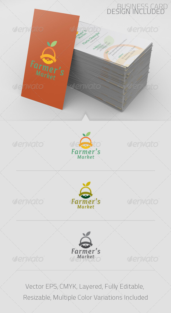 Farmer&#x27;s Market Logo Template - Food Logo Templates