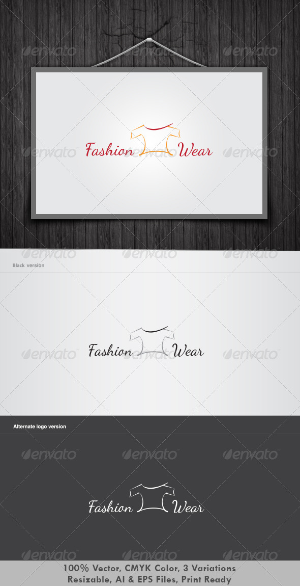 Fashion Wear Logo - Objects Logo Templates