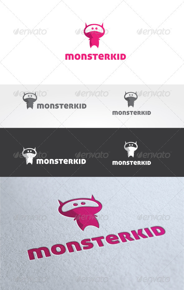 Monster Kid Logo Template - Humans Logo Templates