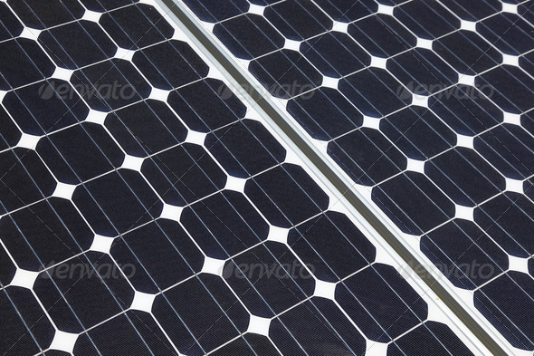 Solar Cells Closeup - Stock Photo - Images