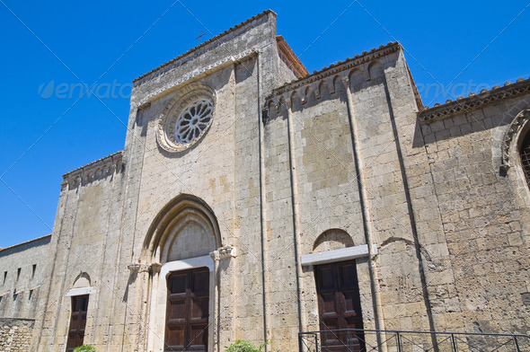 Church of St. Francesco. Tarquinia. Lazio. Italy. - Stock Photo - Images