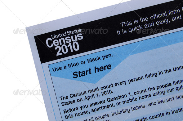 US Census form - Stock Photo - Images