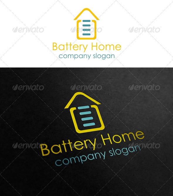 Battery Home - Symbols Logo Templates
