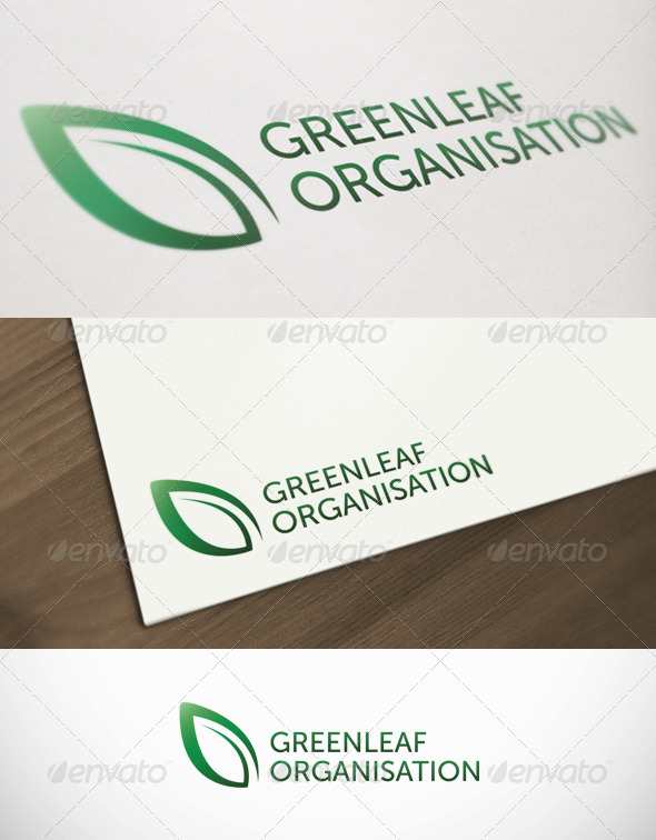 Green Leaf Organisation Premium Logo Template - Nature Logo Templates