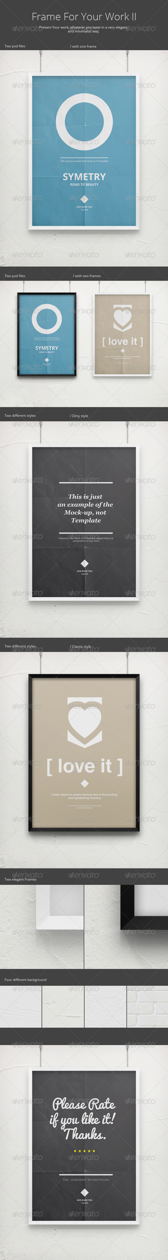 Frame For Your Work II - Poster Mock-Up - Posters Print
