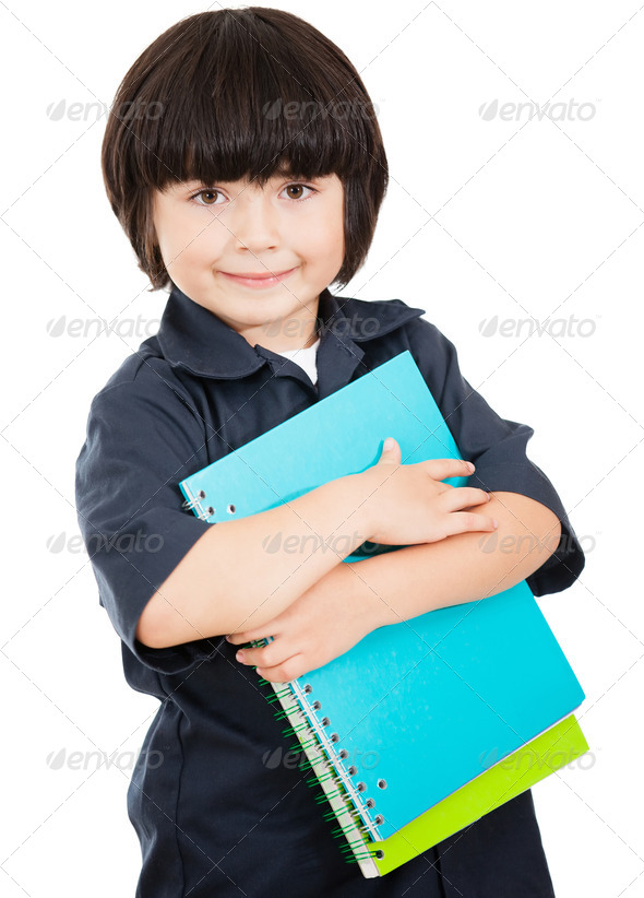 Boy ready for school - Stock Photo - Images