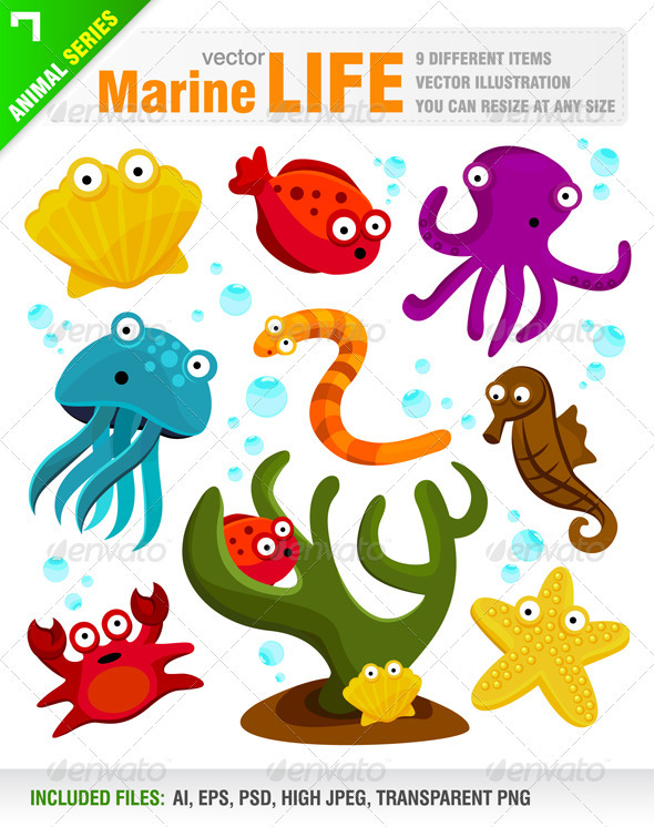 Marine / Sea Life - Animals Characters