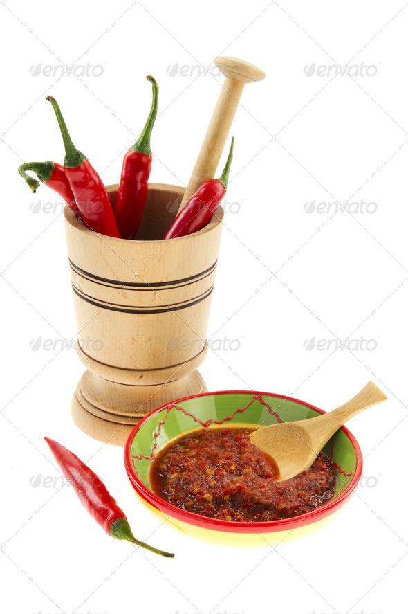 Hot chili paste - Stock Photo - Images