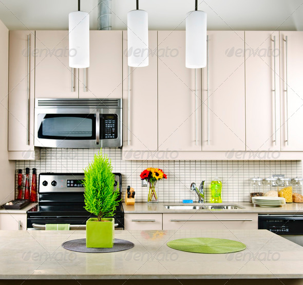 Kitchen Interior - Stock Photo - Images