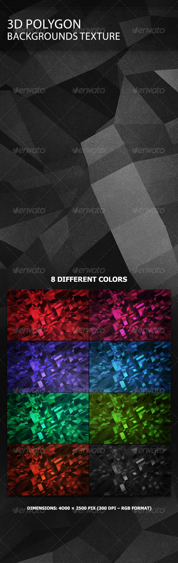 GraphicRiver 3D Polygon Backgrounds Texture 2800985