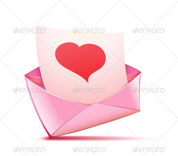 Pink envelope - Valentines Seasons/Holidays