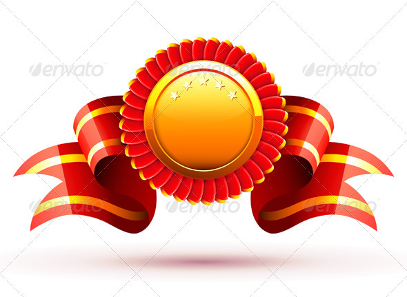 GraphicRiver Badge and ribbon 2801711
