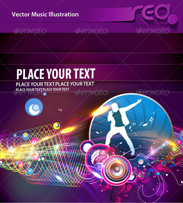 Dance Party Vector Template Design_3 - Backgrounds Decorative