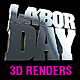 Labor Day 3d Renders - GraphicRiver Item for Sale
