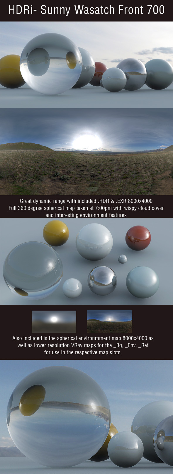 3DOcean HDRi Sunny Wasatch Front 700 100958