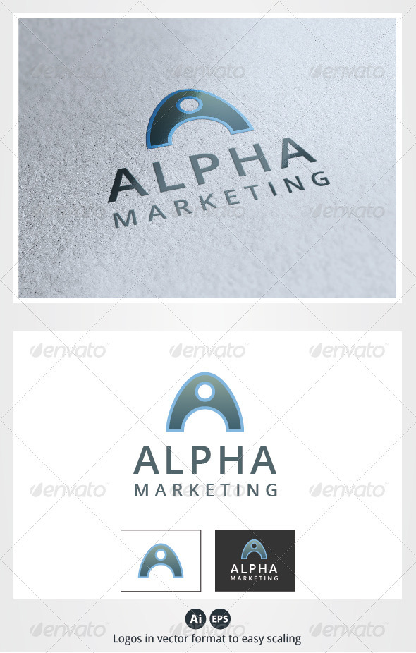 Alpha Marketing A Letter Logo - Letters Logo Templates