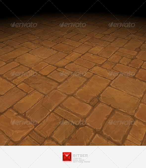 Stone Floor Tile 07 - 3DOcean Item for Sale