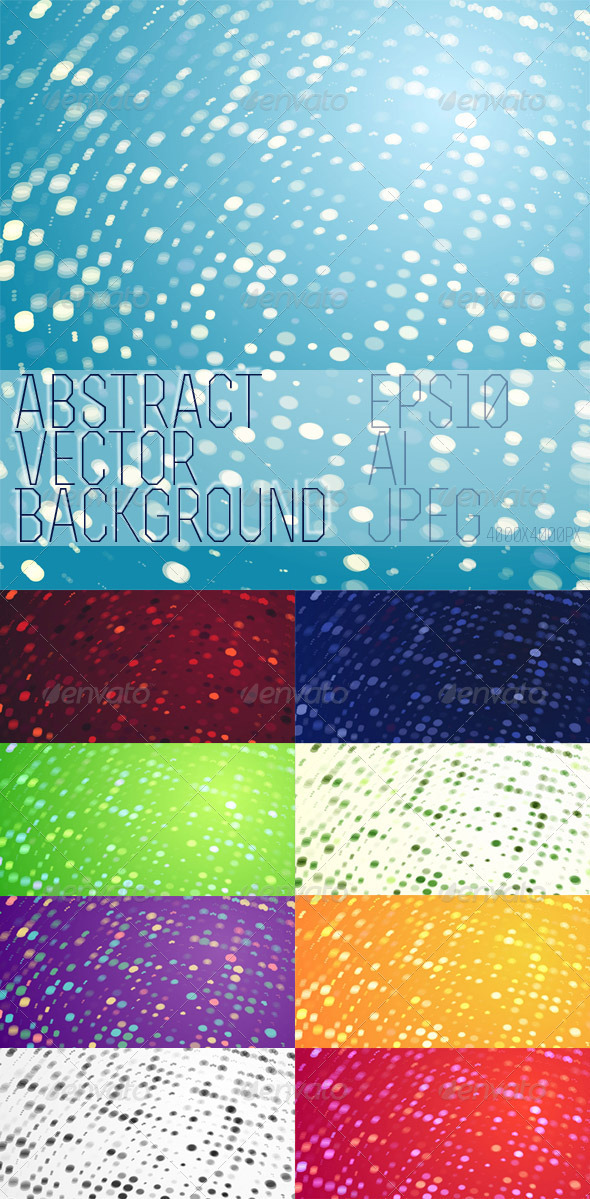 Abstract Vector Background - 9 pack - Backgrounds Decorative