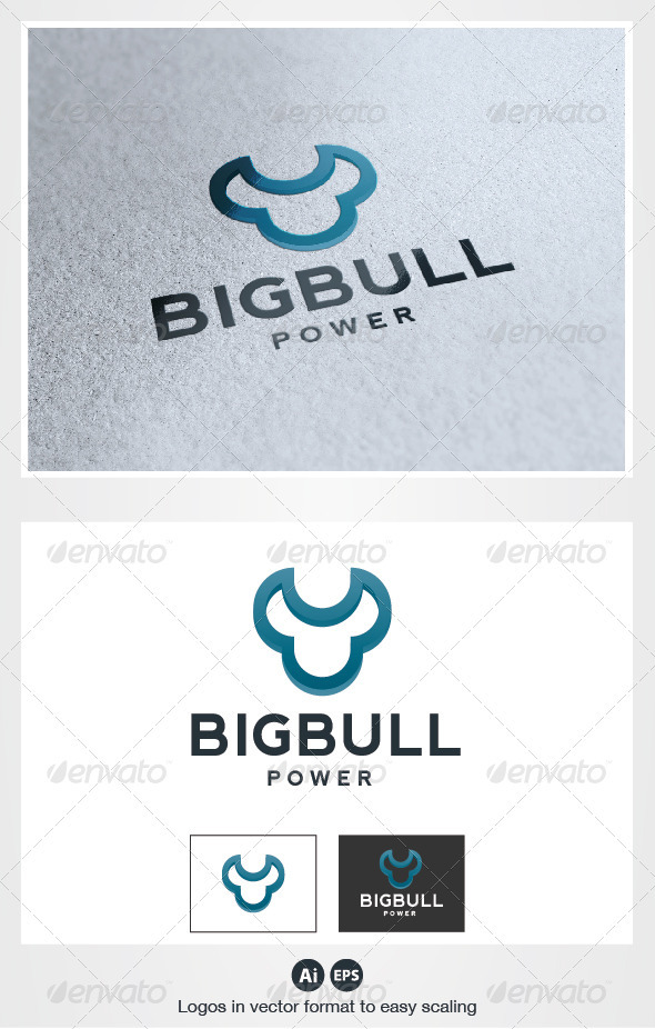 Big Bull Logo - Animals Logo Templates