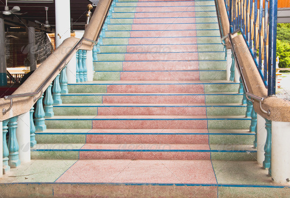Multicolored stairs. - Stock Photo - Images