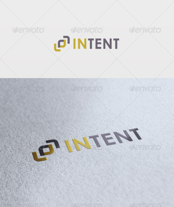 Intent Logo - Vector Abstract